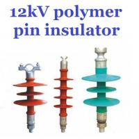 Overhead Line Polymer Pin Insulator , 12kV Silicone Rubber Insulator Creepage 380mm Manufactures