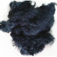 polyester staple fiber dope dyed black for yarn spinning and non woven Manufactures