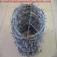 Anti-oxidation High Quality Hot Dipped Galvanized PVC Coated Barbed Wire/barbed wires price per roll Manufactures