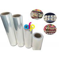 China Yokurt Bundle Packing Heat Shrink Plastic Film , Soft Poly Shrink Film on sale