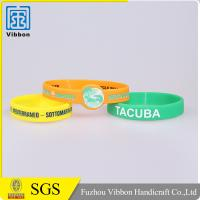 China Hot sale custom made promotional printing bracelet silicone wristband on sale