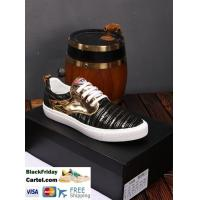 China Armani 2019 New Bright Leather Men's Fashion Casual Shoes on sale