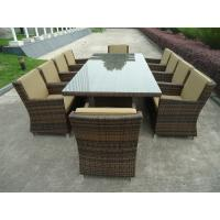 Modern Luxury Wicker Rattan Garden Dining Sets With Aluminum Frame Manufactures