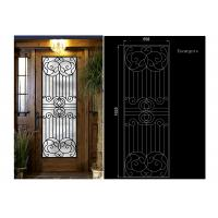 China Decorative Iron And Glass Doors For Entry Doors 15.5*39.37 IGCC / IGMA on sale