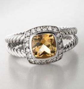 David Yurman Ring,7mm Citrine Petite Albion Ring