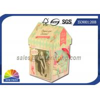 Personalized House Shaped Rigid Decorative Paper Boxes Presentation Box With Ribbon