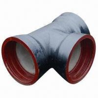China Ductile Iron PVC Pipe Fitting with Red Anti-rust Coating on sale