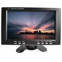 Mini industrial LCD monitor 7inch widescreen 800 * 480 with VGA / AV input Manufactures