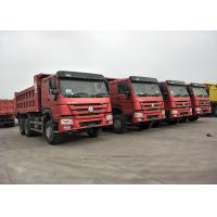 RED Color 371HP 10 Wheeler Dump Truck SINOTRUK HOWO With 12.00R20 Tire Manufactures