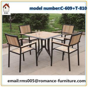 wicker/rattan/outdoor furniture wood, powder coating metal frame C609+T810 Manufactures
