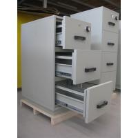 Grey Steel 4 Drawers Fire Resistant Filing Cabinets For Valuable Records / Documents Manufactures