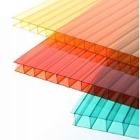 China Fire Retardance UV Coated twin wall polycarbonate sheet PC Hollow Sheets on sale