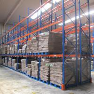 China Powder Coating Blue And Orange Warehouse Selective Pallet Racking With Multi Levels on sale
