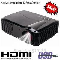 China Native 1280x800pixels HDMI LED Projector Quality Image Compatible For PS Xbox DVD Computer on sale