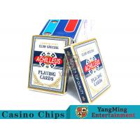 Customized 150g / Pcs Casino Playing Cards With Anti - Fade Clear Printing Manufactures