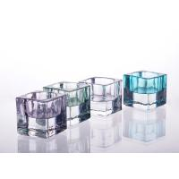 Square Tealight Candle Holder Glass Replacement For Decoration Manufactures