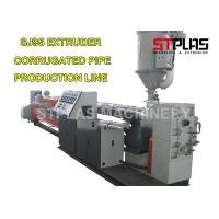 PE Double Wall Corrugated Pipe Making Machine With Single / Double Screw Manufactures