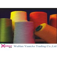 High Twist Dyed Polyester Yarn On Plastic Core , Bright Core Spun Yarn Manufactures