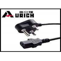 China India Standard 220V International Power Cord For Computer / Refrigerator 3 Prong on sale