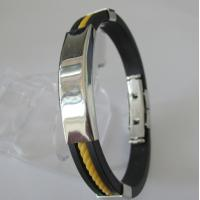 Costume Jewellery Stainless Steel Friendship Rubber Mens Bracelets Manufactures