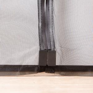 Black Magnetic Fly Screen Mesh Door Curtain , Velcro Magnetic Screen Door Exterior Manufactures