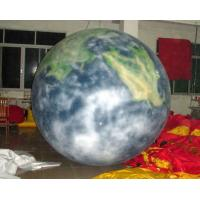 0.18mm Pvc Attactive Inflatable Earth Balloon For Advertising , Advertising Inflatables Manufactures