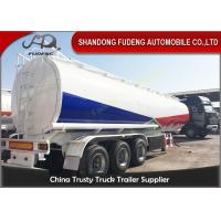 China 45000L Fuel tanker semi trailer with BPW axle , used fuel tanker truck trailer on sale