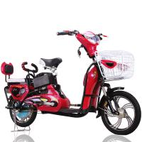 China 16 Red 350W Adult Electric Bike Electric Powered Bicycle 35Km-45Km Distance Range on sale