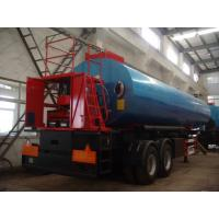 Two Axle  Asphalt Transport Tanker  With Burner Direct Heating System