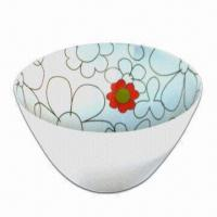 Melamine Breakfast Bowl, Customized Designs and Sizes are Accepted, Meets FDA and EEC Food Standards Manufactures