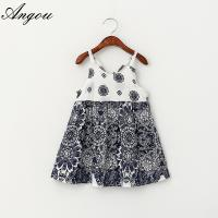 Wholesale Baby Girls Dress slip floral pattern dress children customizable clothing Manufactures