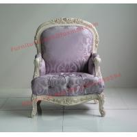 Quality Parquetry and Golden Decortation in Wooden Carving Frame with Fabric Upholstery Sofa for sale