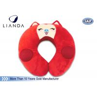 Buy cheap Customized Animal Memory Foam Pillows , Soundbox U Shape Pillow With Velvet Cover from wholesalers