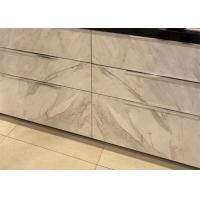4mm Thickness Thin Marble Tile , Real Thin Stone Veneer For Drawer Decoration Manufactures
