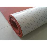 China 100% Elongation Silicone Foam Rubber Sheet / 3M Adhesive Backed Rubber Sheets on sale