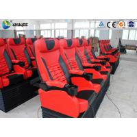 Stackable Imax Movie Theater Electronic 4DM  Motion Chair Red 4 Seats Per Set Manufactures