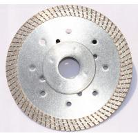 hot-pressed continuous turbo rim ceramic tile cutting blade with 11.5mm height diamond rim for fast and long  life cut Manufactures