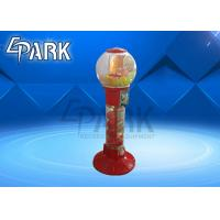 China Red And Yellow Capsule Toy Vending Machine / Coin Operated Game Gumball Machine on sale
