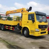 China Hitch Mounted Pickup Truck Mobile Boom Crane Sinotruk HOWO 6x4 10 Ton on sale