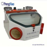 China Micro Motor Dental Equipment Products Twin Pen Metal Sandblaster Machine 50W on sale