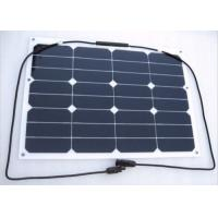 30W Electric Car / Roof Flexible RV Solar Panels Aerodynamic Durable Manufactures