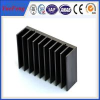 Hot!black anodized aluminum extrusion heatsink,extruded profile aluminum heat sink factory Manufactures