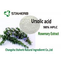 Ursolic Acid Pure Natural Plant Extracts Loquat Leaf / Rosemary Extract Cosmetics Manufactures