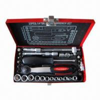 China Socket wrench set/33-piece 1/4 DR. socket wrench set on sale