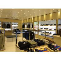 Veneer Stainless Steel Clothing Display Case Contemporary Luxury Retail Design Manufactures