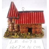 Handmade small house,size:13×7×10cm,Natural material holiday decoration and home decoration Manufactures