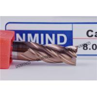 8mm HRC55  SiN TiAlN Coating , Square End Mill , WF25 Rod , Precsion cutting tools , Standard Length Manufactures