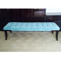Fabric Upholstery Solid Wood Frame Bedroom Benches Customized Blue Manufactures