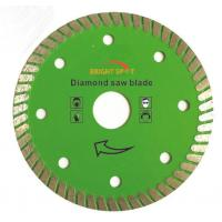 7 Inch Super Thin Diamond Saw Blade Hot Pressed Sintered With 22 / 23mm Inner Hole Manufactures