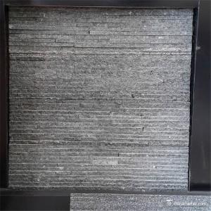 Black Slate / Quartzite Stone Veneer , Natural Stone Thin Stone Veneer Panels Manufactures
